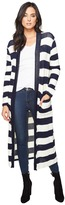 Splendid Cliffside Rugby Stripe Duster Women's Sweater