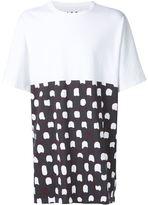 Marni half-print T-shirt - men - Cotton - 48