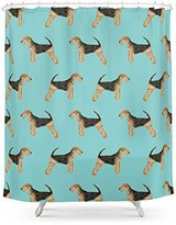 """Society6 Airedale Terrier Pattern Dog Breed Cute Custom Dog Pattern Gifts For Dog Lovers Shower Curtain 71"""" by 74"""""""