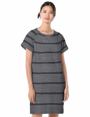 Goodthreads Amazon Brand Women's Modal Fleece Roll-Sleeve Sweatshirt Dress