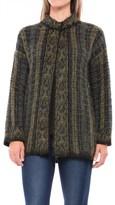 Lineamaglia Mohair Multicolor Cardigan Sweater - 3/4 Sleeve (For Women)