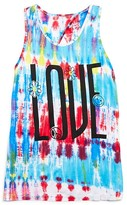 Flowers by Zoe Girls' Tye Dye Love Cutout Tank - Sizes S-XL