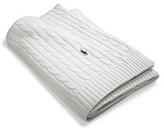 Ralph Lauren Cable Throw 127x177cm White