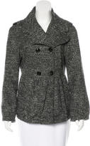 Burberry Wool Tweed Peacoat