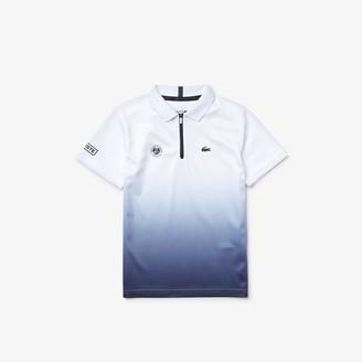 Lacoste Boys' SPORT Roland Garros Zip-Up Polo Shirt