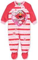 Sesame Street Baby Girls' 1-Piece Footed Pajamas Featuring Elmo