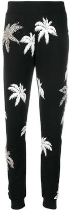 Philipp Plein Palm Tree Print Track Pants