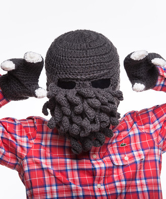 Beardo Ski Masks - Gray Octopus Hat & Gloves