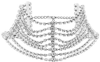 Area Embellished Multi-Chain Choker Necklace