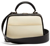 Valextra Serie S Small Grained-leather Shoulder Bag - Womens - White Multi