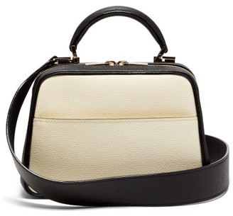 Valextra Serie S Small Grained-leather Shoulder Bag - White Multi