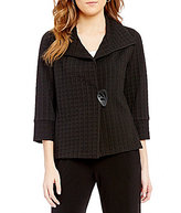 IC Collection Notch Collar One-Button Jacket