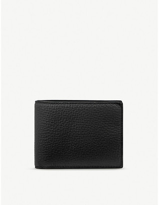 Smythson Panama leather slim currency wallet
