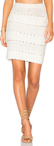 Cleobella Mambo Skirt in Ivory. - size L (also in )