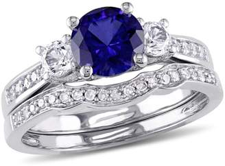 Concerto 10K White Gold 0.14 CT. T.W. Diamond Bridal Ring Set