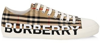 Burberry Larkhall Vintage Check Logo Low-Top Sneakers