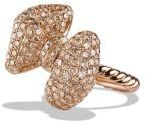 David Yurman Dy Signature Bow Ring With Diamonds In 18K Rose Gold