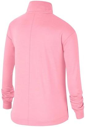 Nike Older ChildrensRun Long Sleeve Half Zip Top - Pink