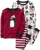 Carter's Boys' 24M-12 4 Piece Cool Bedtime Dude Pajamas Set