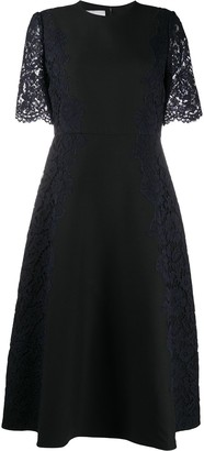 Valentino Lace Sleeve Dress