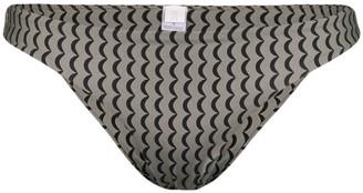 ASCENO Wave print bikini bottoms