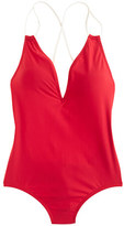 J.Crew Braided rope V-neck one-piece swimsuit