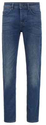 HUGO BOSS Tapered-fit jeans in vintage-look knitted denim