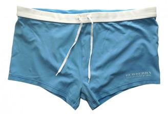 Burberry Blue Polyester Swimwear