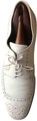 Prada Beige Leather Lace ups