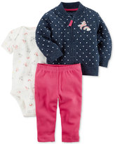 Carter's 3-Pc. Quilted Jacket, Bodysuit & Leggings Set, Baby Girls (0-24 months)