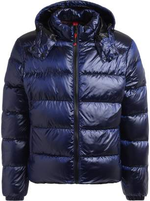 Museum Rusty Down Jacket Made Of Blue Fabric With Hood