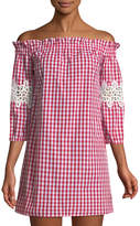 Romeo & Juliet Couture Off-The-Shoulder Gingham Mini Dress