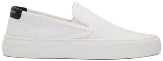 Saint Laurent White Venice Slip-On Sneakers
