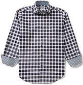 Thomas Dean Plaid Long-Sleeve Woven Shirt
