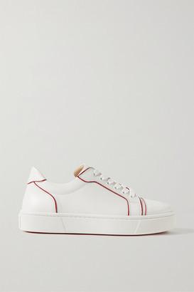 Christian Louboutin Vieirissima Two-tone Leather Sneakers - White