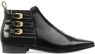 Gucci Buckled Ankle Boots