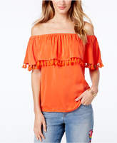 INC International Concepts I.n.c. Petite Tassel-Trim Off-The-Shoulder Top, Created for Macy's