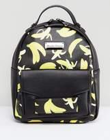 Claudia Canova Claudia Conova Banana Print Small Pocket Front Backpack