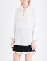 Sandro Ruffled silk blouse