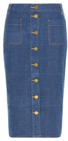 Tory Burch Rivoli denim skirt