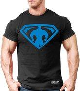 Monsta Clothing Co. Men's MonstaMan-SuperHero (M-TEE-238) T-shirt Black/BL