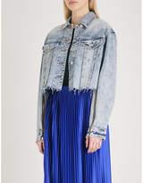 Mo&Co. Frayed denim jacket
