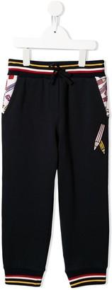Dolce & Gabbana Pencil Print Track Pants