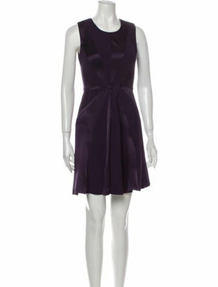 Cushnie Scoop Neck Mini Dress Purple