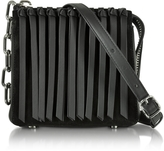 Alexander Wang Black Leather Attica Flap Crossbody Bag w/Fringe
