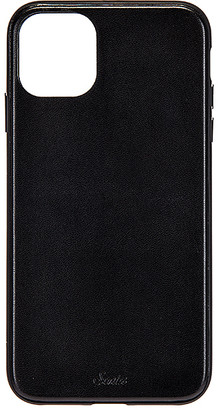 Sonix Black Leather Wallet 11 Pro Case