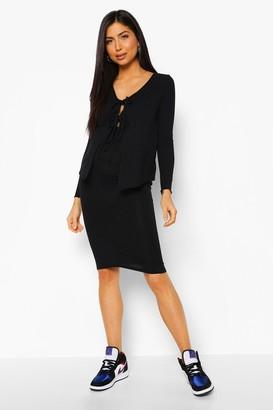 boohoo Maternity Cardigan And Midi Skirt Co-Ord Set