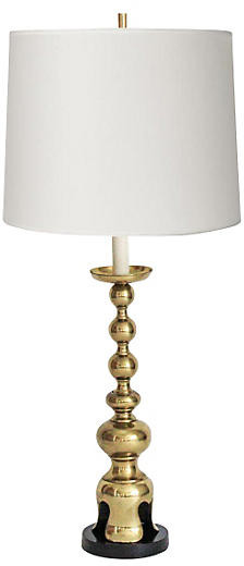 One Kings Lane Vintage Brass James Mont-Style Lamp - Janney's Collection