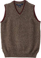 Brooks Brothers Boys' Brown Marled Wool Sweater Vest