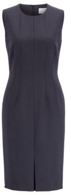 HUGO BOSS Slim Fit Shift Dress With Shadow Check - Patterned